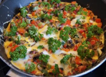 Rezept: Paprika-Champignon-Omelett