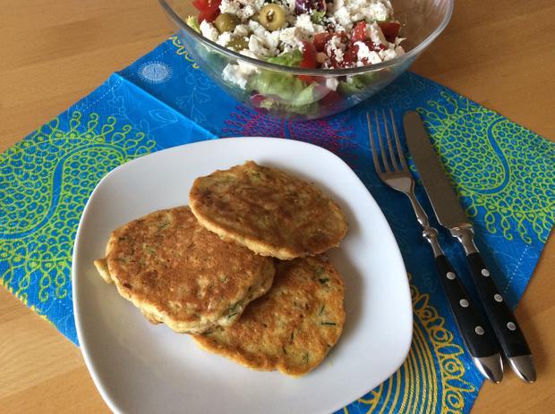 Sommerküche Low Carb : Zucchinipuffer mit kichererbsen low carb rezept kochbar.de