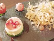 Panna Cotta-Tricolore mit flüchtigen Erdbeeren - Rezept - Bild Nr. 2