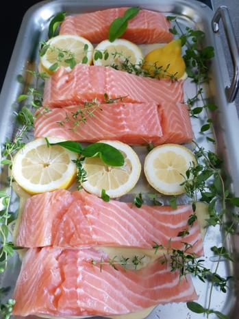 Fisch / Lachs = Lachsfilet mit Gartenkräutern à la Biggi - Rezept - Bild Nr. 3133