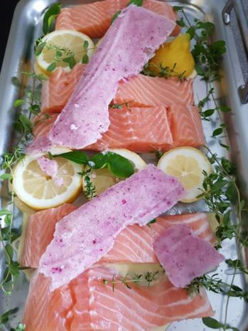 Fisch / Lachs = Lachsfilet mit Gartenkräutern à la Biggi - Rezept - Bild Nr. 3135