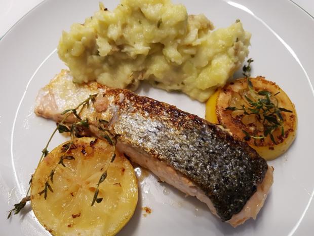 Fisch / Lachs = Lachsfilet mit Gartenkräutern à la Biggi - Rezept - Bild Nr. 3136
