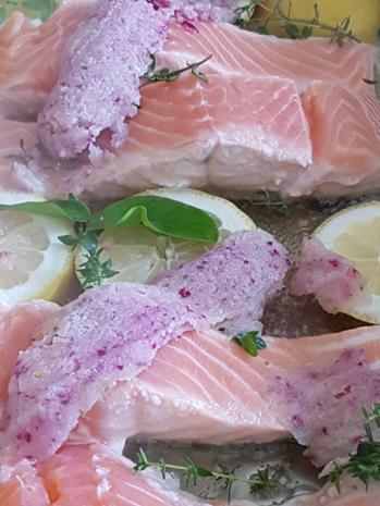 Fisch / Lachs = Lachsfilet mit Gartenkräutern à la Biggi - Rezept - Bild Nr. 3138