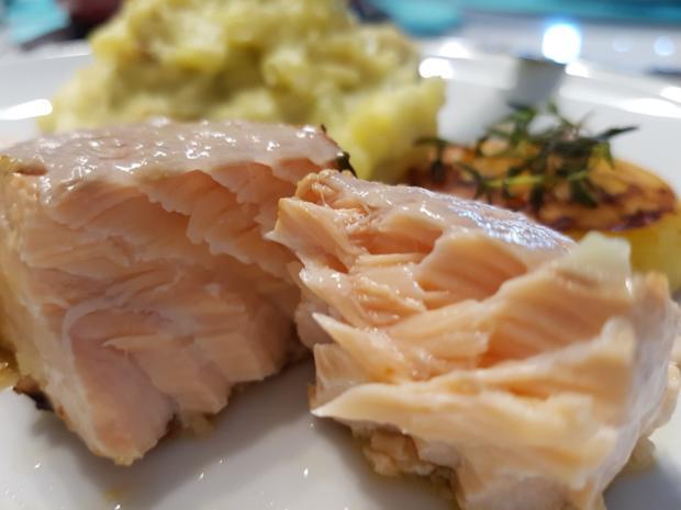 Fisch / Lachs = Lachsfilet mit Gartenkräutern à la Biggi - Rezept - Bild Nr. 3143