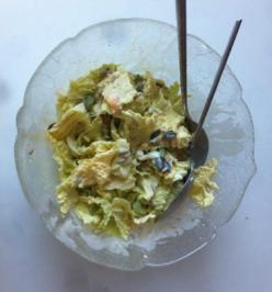 Chinakohlsalat mit Senf-Ei-Dressing - Rezept - Bild Nr. 2