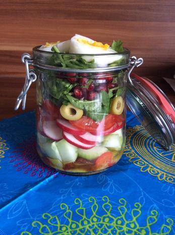 Salat to go - Bunter Mix - Rezept - Bild Nr. 3209