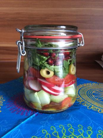 Salat to go - Bunter Mix - Rezept - Bild Nr. 3210