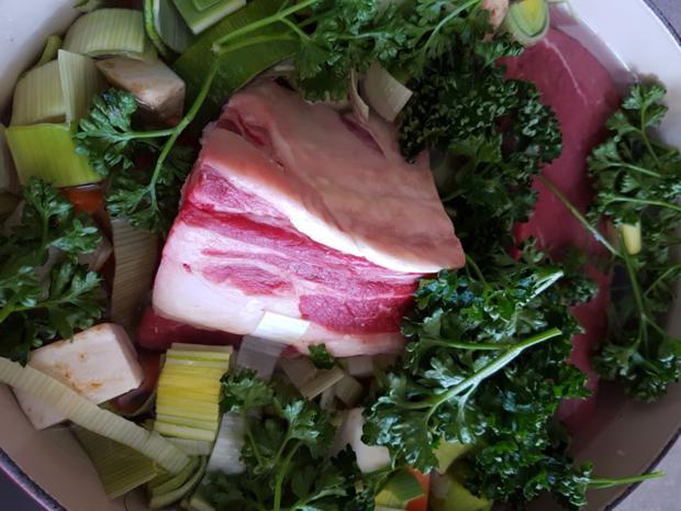 Gemüsesuppe deftig eingekocht - Rezept - Bild Nr. 3216