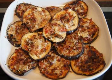 Überbackene Parmesan-Auberginenscheiben - Rezept - Bild Nr. 3209