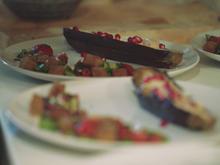Aubergine dazu Tahini und Fatoush Salat - Rezept - Bild Nr. 3210