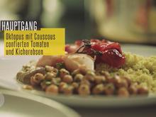 Oktopus dazu Couscous, Petersilienpesto, Kichererbsen und Tomatenconfit - Rezept - Bild Nr. 2