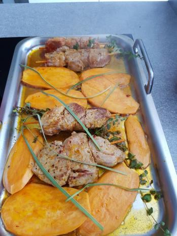 Fleisch / Schwein= Filetspiesse und Beilagen à la Biggi - Rezept - Bild Nr. 3212