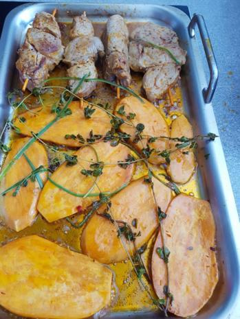 Fleisch / Schwein= Filetspiesse und Beilagen à la Biggi - Rezept - Bild Nr. 3213