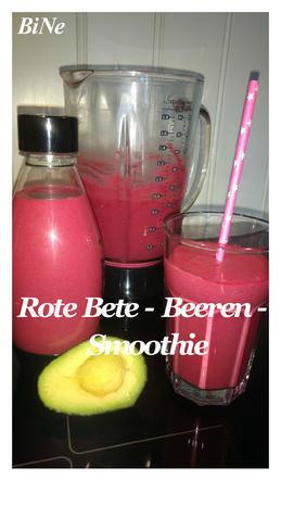 BiNe` S ROTE BETE - BEEREN - SMOOTHIE - Rezept - Bild Nr. 2