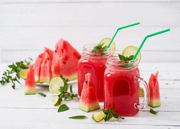 Rezept: Wein-Slush mit Wassermelone und Rosé-Wein