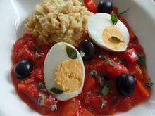 Eier in Tomatensauce mit cremiger Polenta - Rezept - Bild Nr. 3227