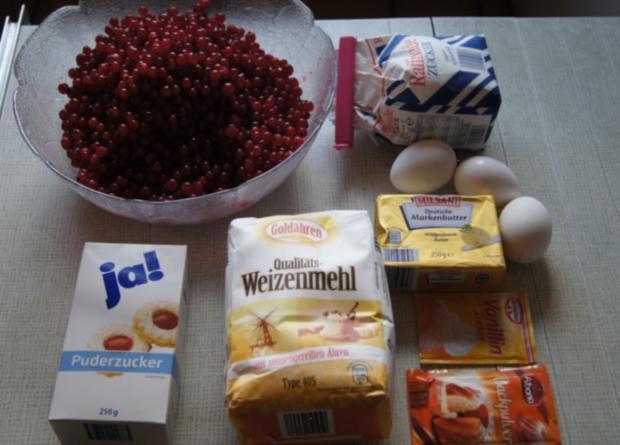 Johannisbeeren Kuchen mit Streusel - Rezept - Bild Nr. 3