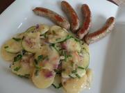 Kartoffel-Zucchini -Salat mit Rostbratwürstchen - Rezept - Bild Nr. 3251