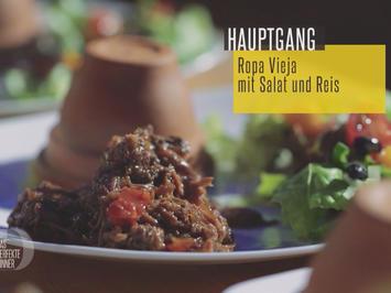 """Rezept: """"Trier meets Cuba"""" Ropa Vieja mit Salat und Reis"""