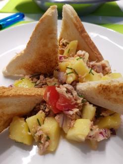 Salat mit Angler Thunfisch - Rezept - Bild Nr. 3301