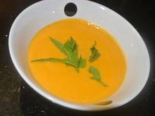 Karottensuppe mit Minze - Rezept - Bild Nr. 3301