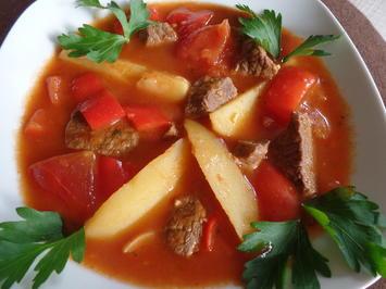 Paprika-Gulasch-Suppe mit Kartoffeln - Rezept - Bild Nr. 3322