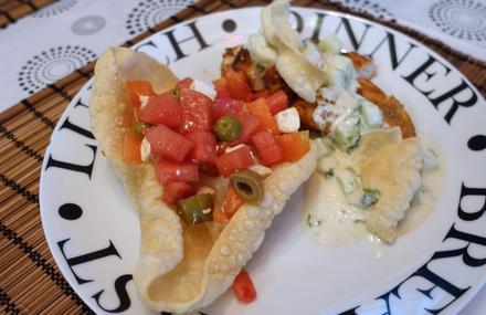 Miami Spice Chicken mit Melonen Salat und Papadam Chips - Rezept - Bild Nr. 3322