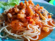 Spaghetti mit Gemüse - Rezept - Bild Nr. 8