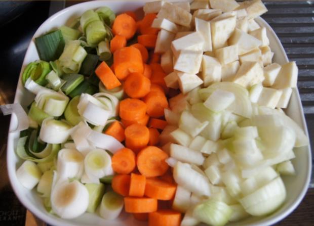 Falsches Rinderfilet gekocht mit Semmelknödel und Gemüsesauce - Rezept - Bild Nr. 3383