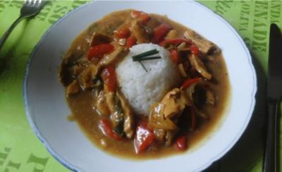 Hähnchenbrust-Gemüse-Curry mit Basmatireis - Rezept - Bild Nr. 3378
