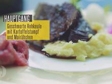 Rehkeule geschmort im Ofen mit Mairübchen und Kartoffelstampf - Rezept - Bild Nr. 2