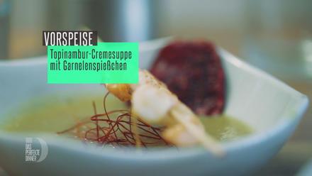 Topinambur-Cremesuppe mit Garnelenspießen - Rezept - Bild Nr. 3440