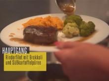 Rinderfilet mit Brokkoli und Süßkartoffelpüree - Rezept - Bild Nr. 2