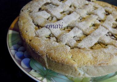 Gedeckte Mürbteig - Apfeltorte mit feiner Grießfüllung - Rezept - Bild Nr. 3389