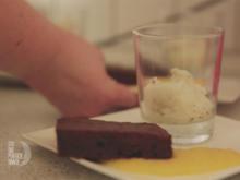Basilikum-Zitronen-Eis mit Triple Choc Brownie - Rezept - Bild Nr. 2