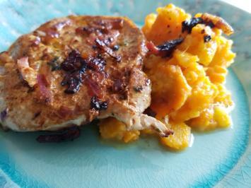 Fleisch / Schwein = Lummerschnitzel mit fruchtigem Möhrenstampf à la Biggi - Rezept - Bild Nr. 3410