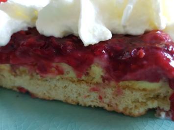 Oma Löffel`s Kuchen = Himbeerkuchen - Rezept - Bild Nr. 3413
