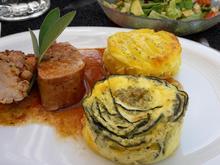 Filet mit Zucchini-Kartoffel-Clafoutis  - Rezept - Bild Nr. 3434