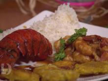 Enchilada de Langosta mit Basmatireis und frittierten Kochbananen - Rezept - Bild Nr. 2