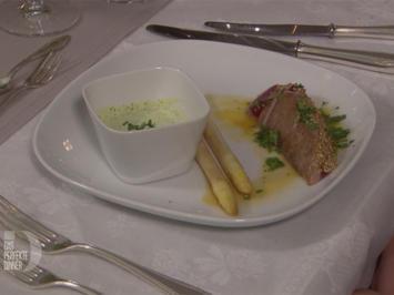 Thunfischfilet mit Pfannenspargel und Frankfurter Grüne Soße - Rezept - Bild Nr. 2