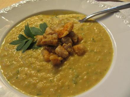 Suppen: Karotten-Sellerie-Creme mit Hähnchen-Croutons - Rezept - Bild Nr. 3440
