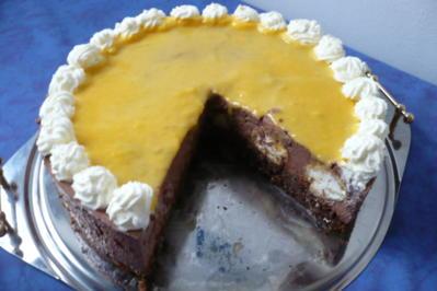 Schokosahne - Windbeutel Torte - Rezept - Bild Nr. 3442