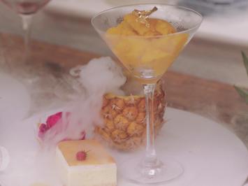 Mango-Maracuja-Ananas Sorbet mit Vanilleküchlein - Rezept - Bild Nr. 2