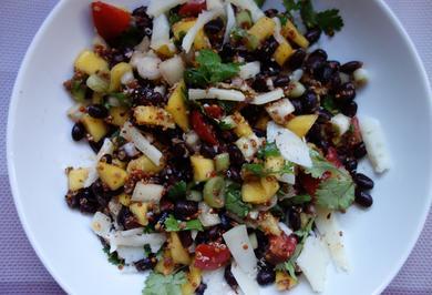 schwarze Bohnen-Quinoa-Salat - Rezept - Bild Nr. 3455