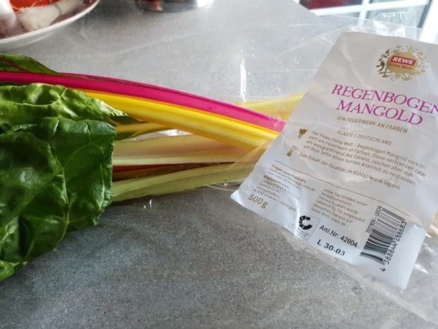 Biggi`s Gemüsebeilagen = Regenbogen Mangold - Rezept - Bild Nr. 3462