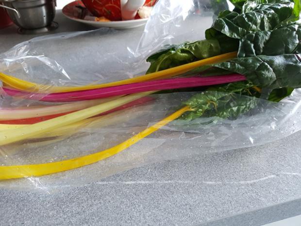 Biggi`s Gemüsebeilagen = Regenbogen Mangold - Rezept - Bild Nr. 3464
