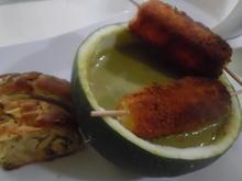 Zucchini-Suppe mit Schafskäse-Sticks - Rezept - Bild Nr. 3471