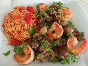 Ouzo-Garnelen mit Tomatenreis - Rezept - Bild Nr. 3473