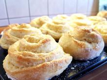 Hefe - Muffin mit selbstgemachten Pudding - Rezept - Bild Nr. 3473