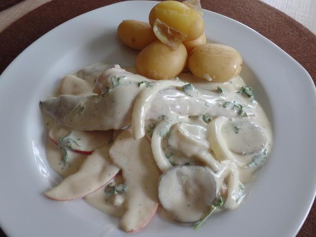 Matjes in Senf-Sahne-Sauce mit Pellkartoffeln - Rezept - Bild Nr. 3481